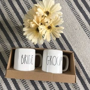 Rae Dunn Bride & Groom Mug set wedding gift